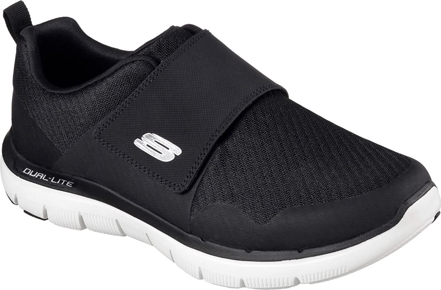 Skechers Men's Flex Advantage 2.0 Gurn Trainer,Black White, 9.5 D(M) US