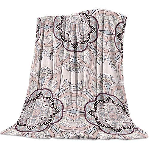 Blanket Mandala Blankets,Traditional Indian Pattern Warm Flannel Throw Blanket For Baby Girls Boys Adult Home Office Sofa Chair Cars,50' x 40'