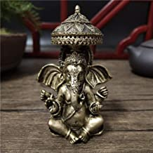Sculpture Appreciation Bust Lord Ganesha Buddha Statues Resin Hindu God Sculptures Home Decoration