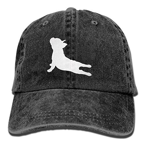 French Bulldog Yoga Baseball Hat Men and Women Summer Sun Hat Travel Sunscreen Cap Fishing Outdoors Black