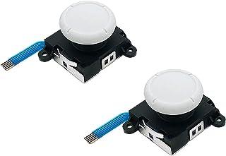 "Jeylly Original 3D Analog Joystick Joy-Con Replacement Left/Right Repair Kit Thumb Sticks Sensor with 4 ""Y"" Screws for Nin..."