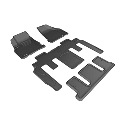 3D MAXpider Complete Set Custom Fit All-Weather Floor Mat for Select GMC Acadia/