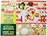 Melissa & Doug Sticker Pad - Make-a-Meal, 225+ Food Stickers, Standard Packaging