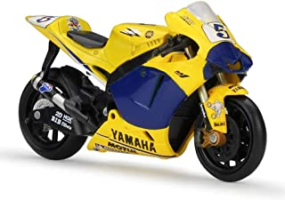 YaPin Model Car Escala 1:18 Modelo de la Motocicleta de la Motocicleta Yamaha M1 de Moto GP 2006 Simulación de aleación Modelo de Regalo Serie de la decoración (Color : Yellow, Size : 12 * 3 * 6cm)