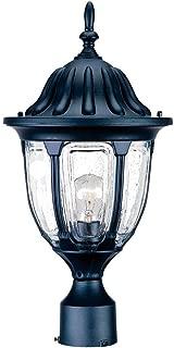 Acclaim 5067BK Suffolk Collection 1-Light Post Mount Outdoor Light Fixture, Matte Black