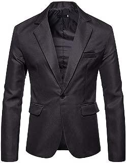 Winwinus Men Wedding Solid Notch Lapel Patch Coat Jacket Business Blazers