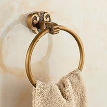 Handdoekring, retro, badkamer, accessoires, rond, messing, handdoek, ring, badkamer, handdoek, ring, anti-roest.