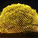 Twinkle Star 360 LEDs Christmas Net Lights, 12ft x 5ft 8 Modes Low Voltage Connectable Mesh Fairy String Lights for Xmas Trees, Bushes, Wedding, Outdoor Garden Decorations (Warm White)