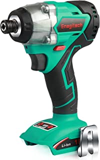 """Enegitech 18V Impact Driver, Brushless Cordless Electric Power Tool with 1/4"""" Hex Chuck, 3097 in.lbs/350Nm High Torque, Variable Speed, Quick-Shift Mode, LED Work Light ET02 (Body Only)"""