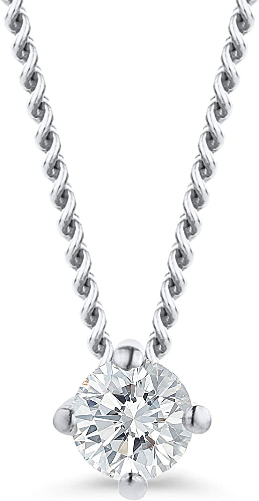 Orovi collana per donna in oro 18k/750(1,08 g) con diamante taglio brillante 0,07 ct OR9049N