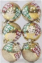 Ydh Niet gemakkelijk te verouderen, 6 stuks, onbreekbare kerstbal ornamenten voor kerstboom, veelkleurige decoratieve ballen