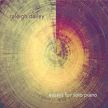 Essays for Solo Piano