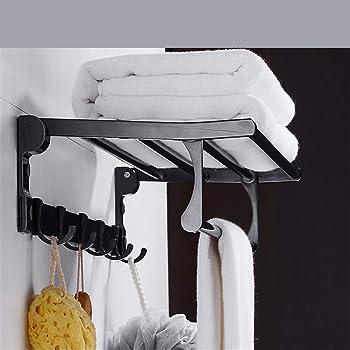 acabado negro mate barra de toallero SUS-304 Sayayo Toallero de pared montado en el ba/ño EGYT040-B