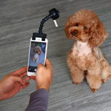 Yeefant Portable Pet Selfie Stick Phone Attachment Dog Cat Take Photos Training Toy Convert Any Surface Into an Instant Pet Photo Booth Take Photos Training Toy Pet Dog Selfie Stick Photo Artifact