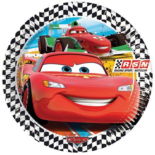 Pixar Course de Voitures de Sport Amscan réseau Papier Larges Assiettes Accessoire de fête.