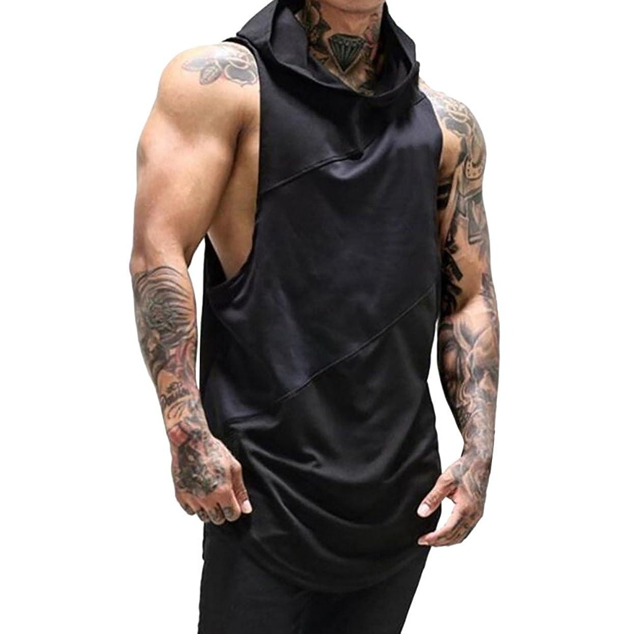 Sunyastor Men Sleeveless Hoodie Men's Workout Hooded Tank Tops Bodybuilding Muscle Cut Off T Shirt Sleeveless Gym Hoodies