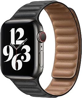 ZAALFC Enlace de Cuero para la Banda de Reloj de Apple 44mm 40mm 38mm 42mm Watch Band Band Magnetic Loop Pulsera para iWat...