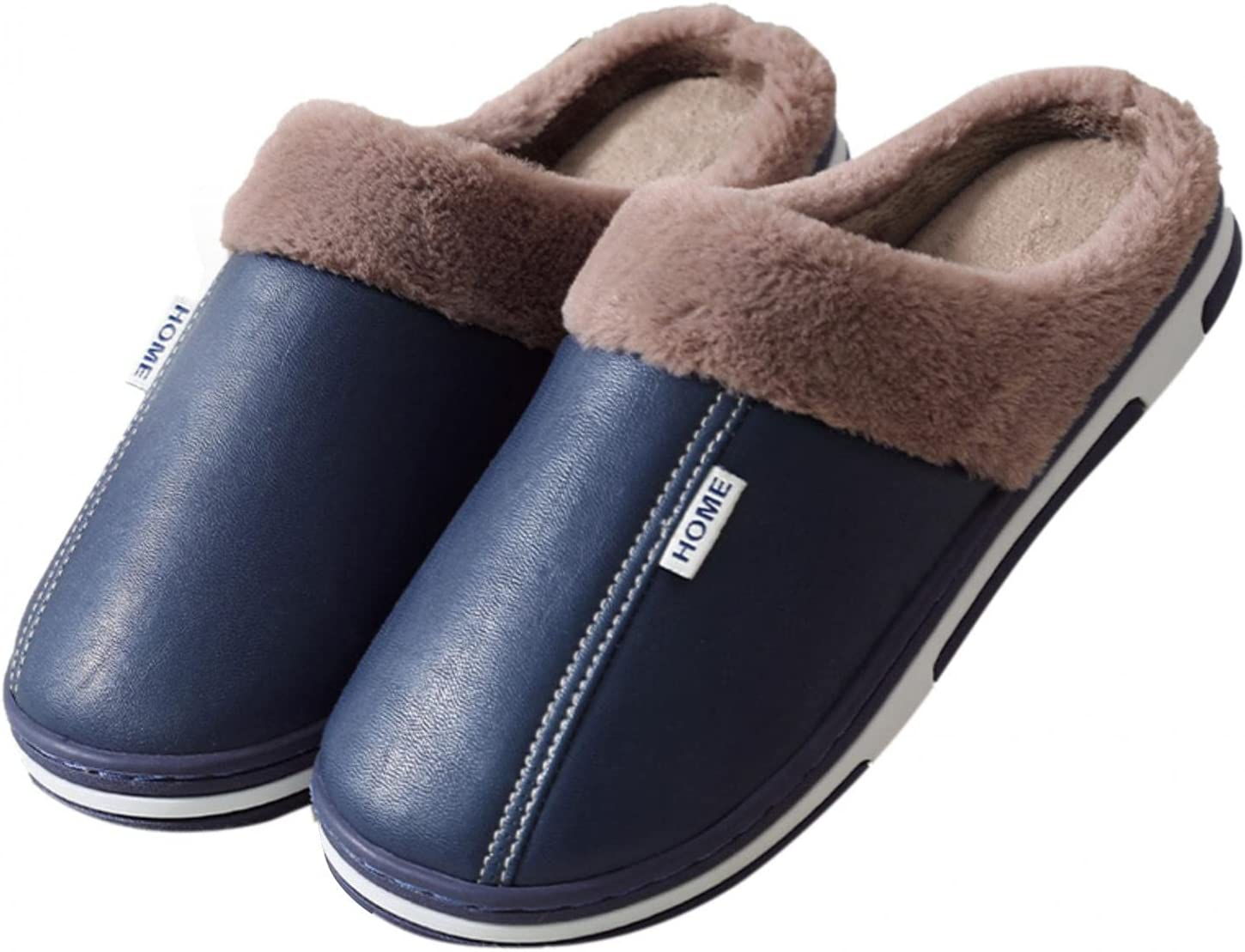 Max 84% OFF Couple Style Fluffy House Slippers Mens and Special Campaign Warm Indoor B Womens