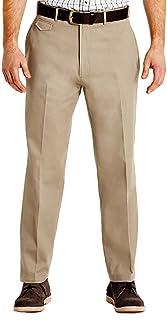 Pegasus Mens Cotton Chino Discreet Side Elasticated Stretch Waistband Trouser Pants