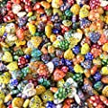 1/4 Pound Lovely Heart Shape Millefiori Lampwork Glass Beads Selected Quality by Beading Station