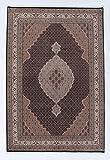 Nain Trading Indo Täbriz Royal 292x199 Orientteppich Teppich Dunkelgrau/Dunkelbraun Handgeknüpft Indien