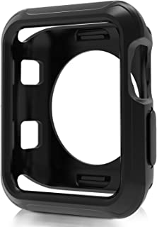 Venus Zechariah Compatible Apple Watch Case 42mm,Shock-Proof and Shatter-Resistant Protector Bumper Compatible Apple Watch Series 3/2/1 Sport&Edition(Black, 42mm)