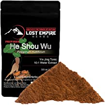 Lost Empire Herbs He Shou Wu (Fo Ti) - Large 100g Bag of Premium Grade Powdered Extract (10lbs of Roots make 1lbs of Extract = potent!) - Traditionally Prepared from Mature 4-year-old Roots
