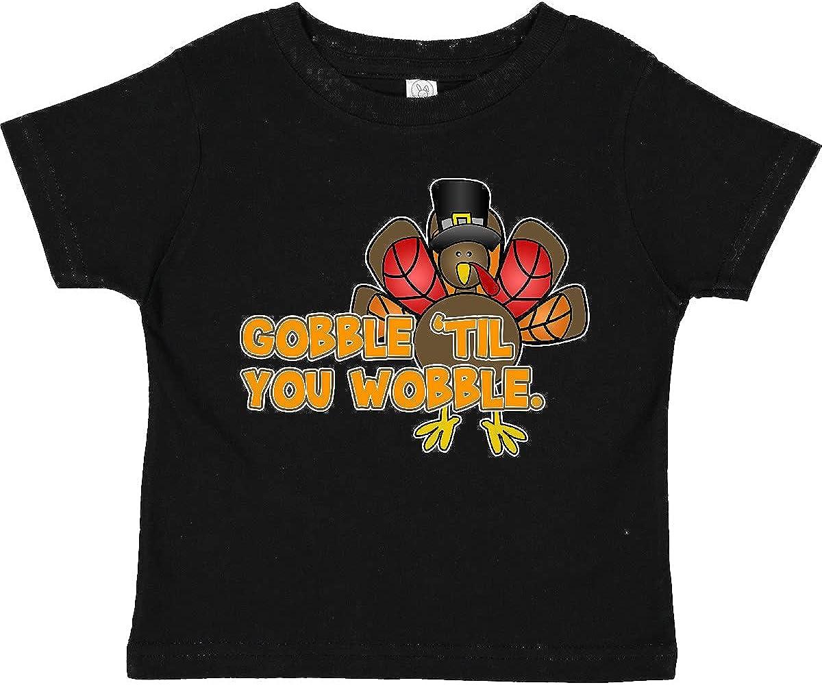 inktastic Gobble 'til You Wobble Thanksgiving Toddler T-Shirt