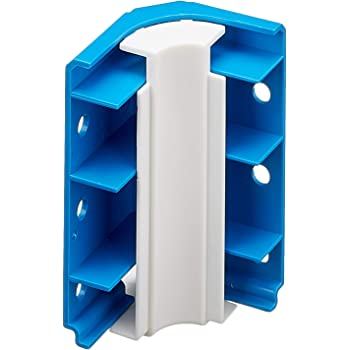 Wei/ß Laminat Fussleisten Quadro Endst/ück links 55mm PVC Leiste Farbe