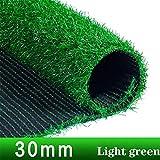GAPING Tappeto Erboso Artificiale Prato Sintetico Altezza Lama 30 Mm for Interni-Esterni-Balcone-Paesaggio Disponibile in 4 Colori (Color : Light Green, Size : 2x0.5m)