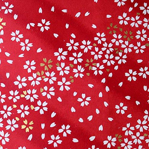 Japonés hecho a mano Yuzen Washi Chiyogami para Origami Tamaño Grande hoja–flores de cerezo Sakura Color Blanco (aprox. 630mm x 945mm