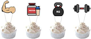 Party Hive 24pc Gym Workout Cupcake Toppers for Birthday Party Event Decor