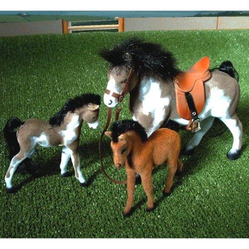 Un cheval et deux poulain