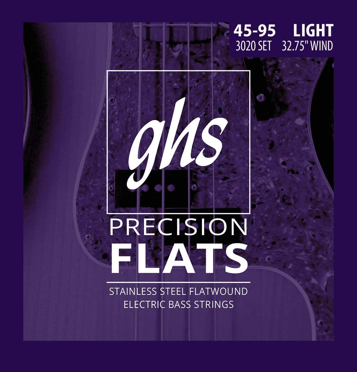 GHS Strings Short security Scale 4-String Precision Stainless Bass mart Flats