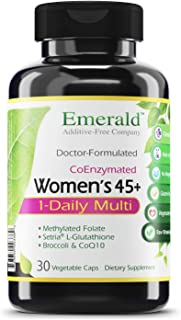 Women's 45+ 1-Daily Multi - Multivitamin with CoQ10, Vitamin K2 (MK-7) & Extra Calcium - Supports Healthy Heart, Strong Bo...