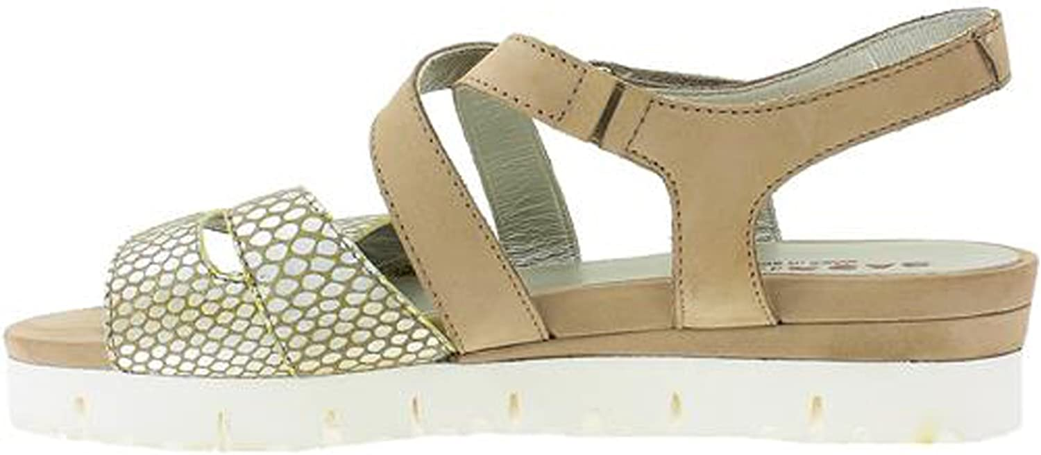 Sabrinas 55004 Ibiza Womens Nubuck & Reptile Leather Sandals Onyx Taupe 40 US 9
