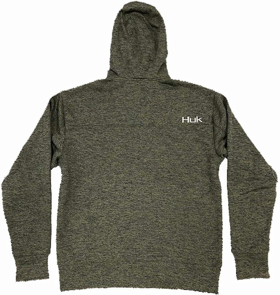 Huk Men/'s Fin Tech Full Zip Sargasso Sea Heather X-Large Hoodie Sweatshirt