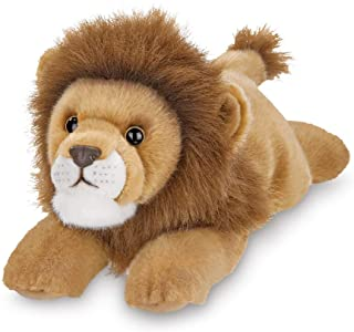 Bearington King Plush Stuffed Animal Lion, 14 inches