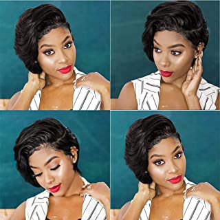 Fashion Synthetic Short Afro Curly Black Wig For Women (A)