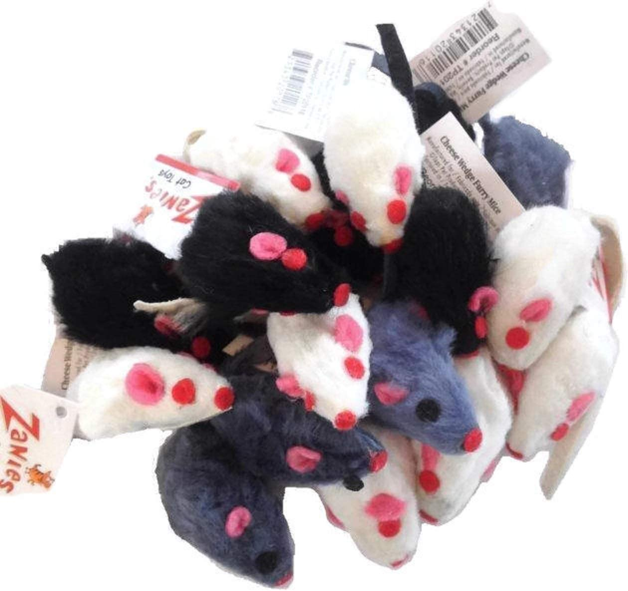 Topics Ranking TOP20 on TV 10 x Cat Toy Realistic Mice Fur