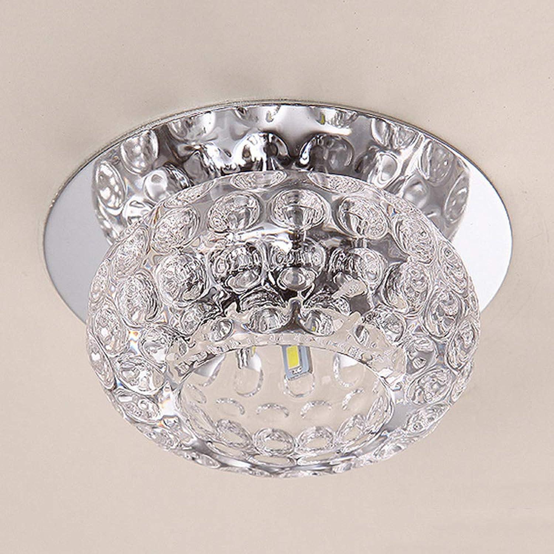 4 Stück , 3W Moderne Kristall Deckenleuchte Dekorative Wohnzimmer Kristall Deckenleuchte Korridor Licht Gangbeleuchtung , Unterputz