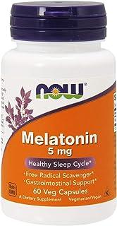 Now Foods Melatonin 5mg, Capsules, 60ct