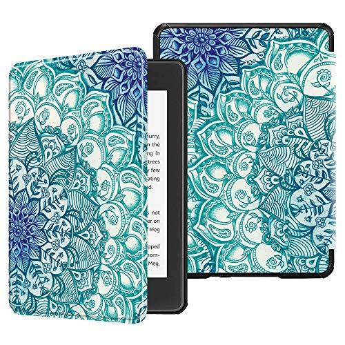 Fintie Hülle für Kindle Paperwhite (10. Generation – 2018) - Die dünnste und leichteste Schutzhülle Tasche mit Auto Sleep/Wake Funktion für Amazon Kindle Paperwhite eReader (Z -Smaragdblau)