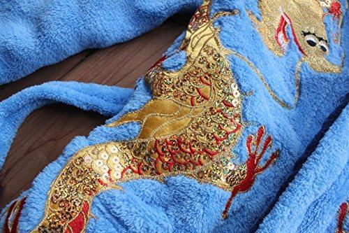 feetoo Cartoon Rabbit Embroidered Girl Bathrobe 100/% Cotton Girl Robe Gown