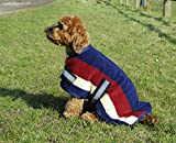 Rhinegold 0 Fleece Dog Coat-24-Burgundy Striped Coat, 24