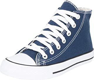 Cambridge Select Women's Classic High Top Cap Toe Canvas Lace-Up Fashion Sneaker