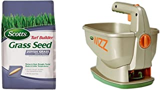 Scotts Turf Builder Zoysia Grass Seed & Mulch and Wizz Spreader