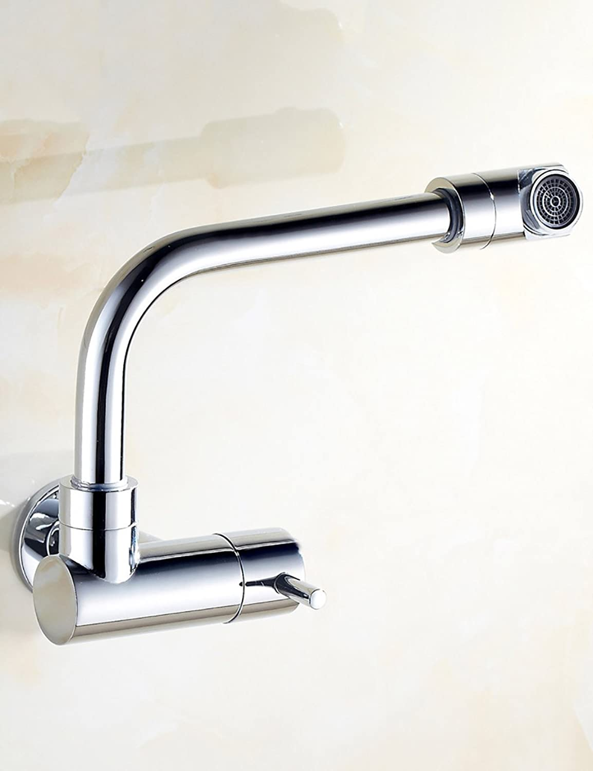 Sun LL European Style Simple ?modern Household Kitchen Faucet Brass Single Cold Can Be redated Single Head Single Handle Vegetable Pots Into The Wall