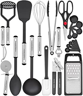 Ustensiles de Cuisine 23 Pcs Nylon Set de Cuisine - Ustensiles de Cuisine Inox Accesoire Cuisines - Lot Ustensile Cuisine ...