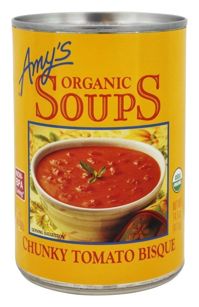 Amy's Organic Soup Year-end gift Light in Sodium 14.5 -- Chunky Tomato Popular shop is the lowest price challenge Bisque